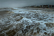 Southwold Pier, Southwold, Suffolk, Britain. Rain and heavy seas on Spring Bank Holiday Monday, 2008. View from the Pier..COPYRIGHT PHOTOGRAPH BY BRIAN HARRIS  © 2008.07808-579804