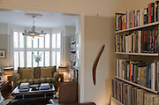 Living Room from a contemporary refurbishment of a Victorian terrace house at 74 Ulverscroft Road, East Dulwich, London, England. Designed by Jo Houchell & architect Oliver Houchell, 2008