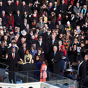 President-elect Barack Obama is sworn-in as the 44th President of the United States of America on the West Front of the US Capitol Tuesday, January 20, 2009...Photo by Khue Bui