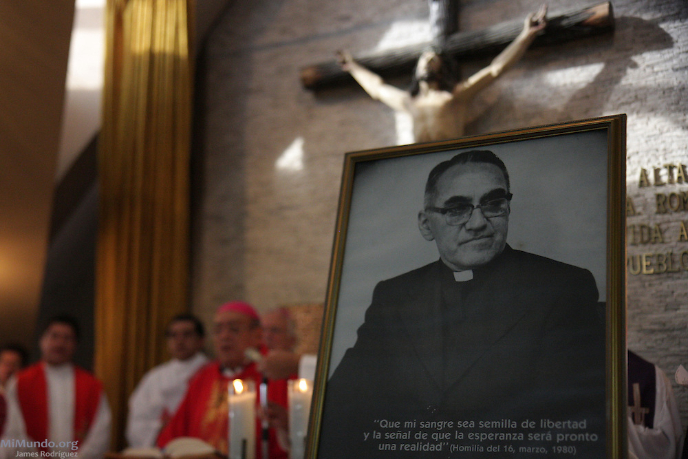 Samuel Ruiz, Emeritus Bishop of San Cristobal de las Casas, Chiapas, Mexico, presides a mass honoring Monsignor Romero's memory on the same altar where the latter was assassinated thirty years before. On March 24, 1980, Monsignor Romero, Archbishop of San Salvador, was gunned down by a professional sniper while giving a mass in the chapel of the Divina Providencia Hospital. Monsignor Romero had become a recognized critic of violence and injustice and was therefore perceived as a dangerous enemy by certain military and right wing groups in El Salvador. San Salvador, El Salvador. March 24, 2010.