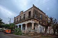 Hurricane damage in Antilla, Holguin, Cuba.
