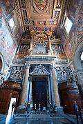 Ceiling and walls of St. John Lateran Basilica, Rome, created by Flaminio Boulanger and Vico di Raffaele. (Sam Lucero photo)