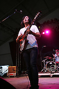 Ed Reyes, on vocals and guitar of The Little Ones performs during the first day of the 2007 Bonnaroo Music & Arts Festival on June 14, 2006 in Manchester, Tennessee. The four-day music festival features a variety of musical acts, arts and comedians..Photo by Bryan Rinnert