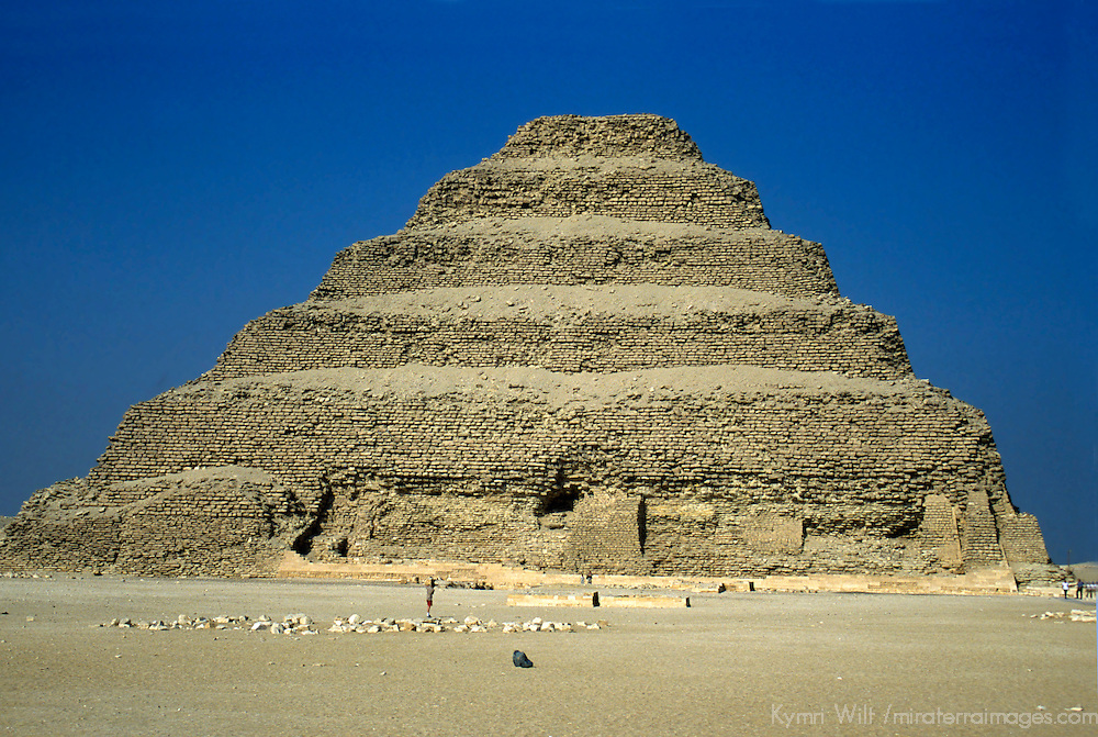 Africa, Egypt, Sakkara. Step Pyramid of Sakkara.