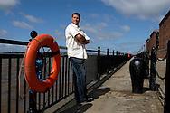 UK. Liverpool. Professional 'Streaker' Mark Roberts at Liverpool Docks..Photo©Steve Forrest/Workers' Photos.