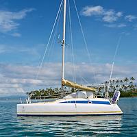 Sailing boat anchored at the Dutch Keys