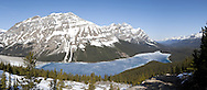 Bow Summit Panoramic View of Peyto Lake, Banff National Park, Alberta, Canada