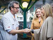 14-2-2017 - AMSTERDAM - Queen Maxima brings a working visit to Emma at Work foundation in the Emma Children's Hospital. The Foundation focuses on young people with a chronic illness or physical disability. The objective is to help them to gain work experience through a holiday or part-time job. COPYRIGHT ROBIN UTRECHT<br /> 14-2-2017 - AMSTERDAM - Koningin Maxima brengt een werkbezoek aan stichting Emma at Work in het Emma Kinderziekenhuis. De stichting richt zich op jongeren met een chronische ziekte of lichamelijk beperking. Doelstelling is om hen te helpen om werkervaring op te doen via een vakantie- of bijbaan. COPYRIGHT ROBIN UTRECHT