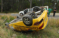 Owen & Christine Boak .2001 Citroen Xsara VTS.After their car rolled on the Dover stage. Both were taken to hospital but were released .Day 1.Targa Wrest Point 2009.Southern Tasmania.31st of January 2009.(C) Joel Strickland Photographics.