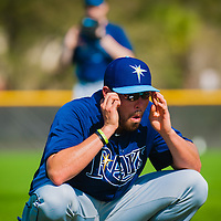 Tampa Bay Rays pitcher Matt Moore workouts with pitchers and catchers during MLB Spring Training at the Charlotte County Sports Complex in Port Charlotte, Fla., on Wednesday, February 13, 2013.  (PHOTO / CHIP LITHERLAND)