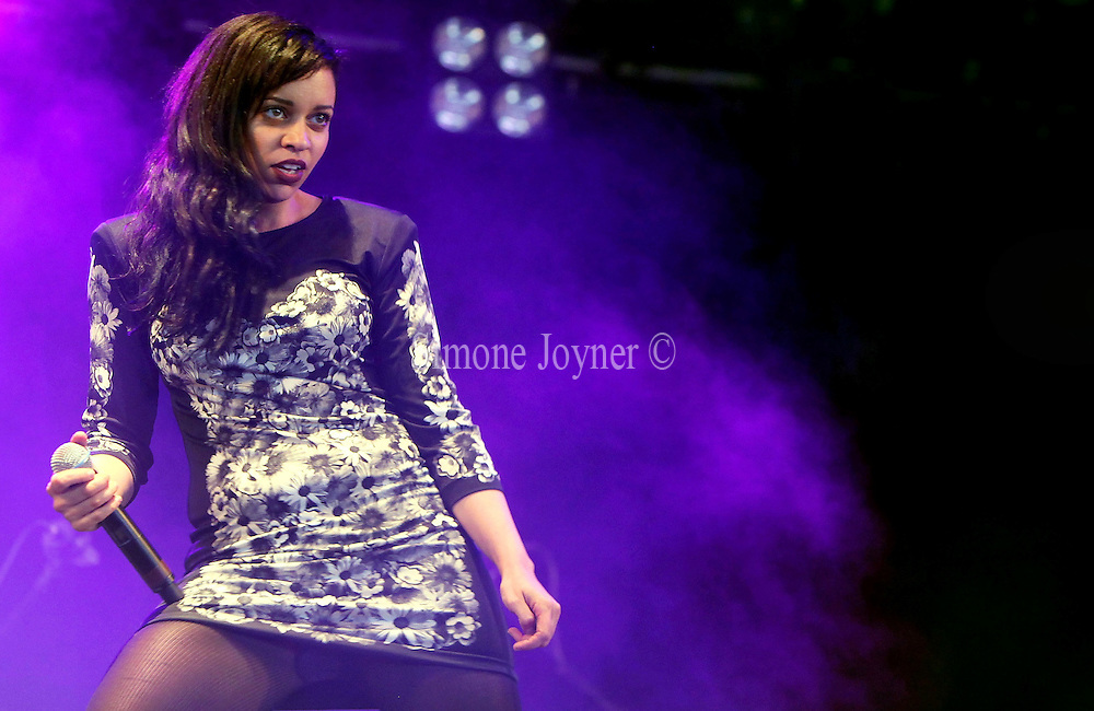 Tahita Bulmer of New Young Pony Club performs live on the NME Radio 1 stage during day one of Reading Festival on August 27, 2010 in Reading, England.  (Photo by Simone Joyner)