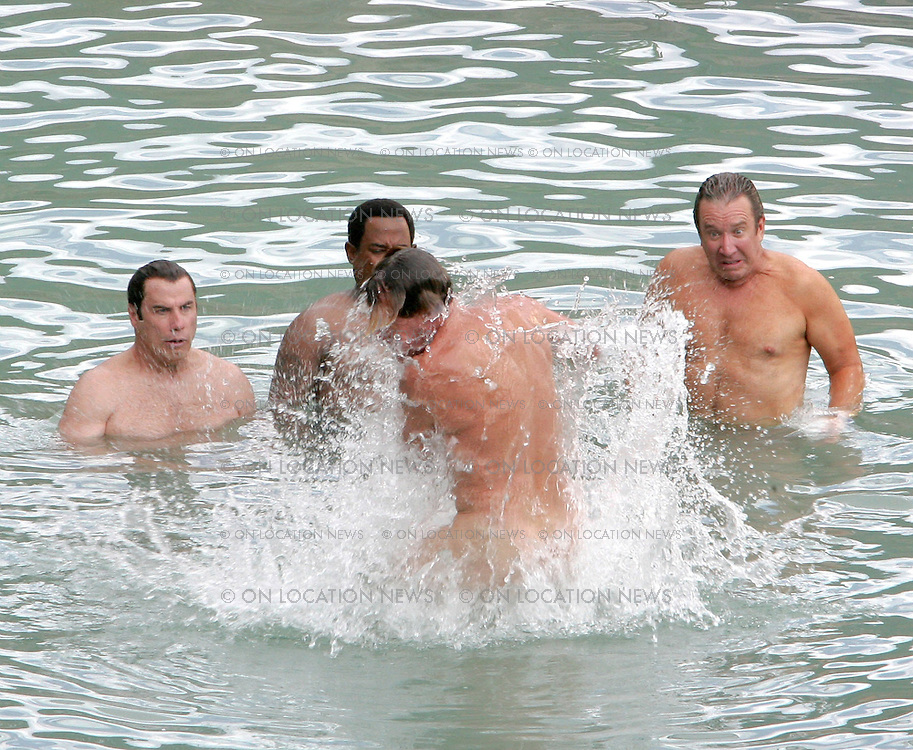July 20th 2006  New Mexico. John Travolta, Martin Larwrence, William H. Macy & John C. McGinley film a very funny skinny dipping scene for Wild Hogs. Photo by Eric Ford 818-613-3955 info@onlocationnews.com