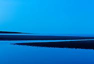 St Cyrus beach at dusk, Scotland