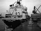 """1973 - """"Manchester Vigour"""" Docks In Dublin Port.    (F37)"""