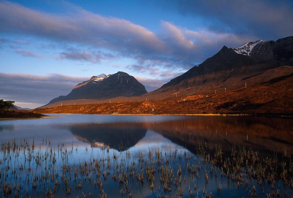 Liatach from Loch Clair, Wester Ross, Scotland