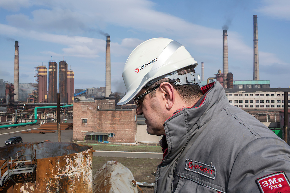 AVDIIVKA, UKRAINE - MARCH 18, 2015: Musa Magomedov, general manager of the Avdiivka Coke and Steel plant in Avdiivka, Ukraine. CREDIT: Brendan Hoffman for The New York Times