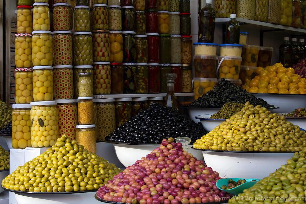 Africa, Morocco, Marrakech. Olives of Marrakech Souks.