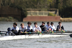 2012.02.25 Reading University Head 2012. The River Thames. Division 1. Eton College Boat Club B J15A 8+