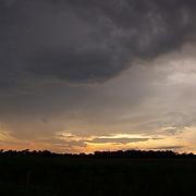 Sunset shot taken along a Texas Highway.