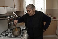 UK. London. Josephine Lee 69 years old, pensioner. Live by her self in west London. Photos ©Amaya Roman