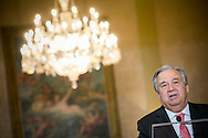 New appointed United Nations general secretary Antonio Guterres speaks to the press in Lisbon, on October 6, 2016. Rodrigo Cabrita/4SEE