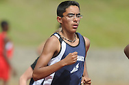 Oxford Middle School's Ivan Lopez runs the 3200 meters at a track meet in Oxford, Miss. on Thursday, April 7, 2011.