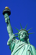 Image of the Statue of Liberty on Liberty Island in New York Harbor, New York City, New York