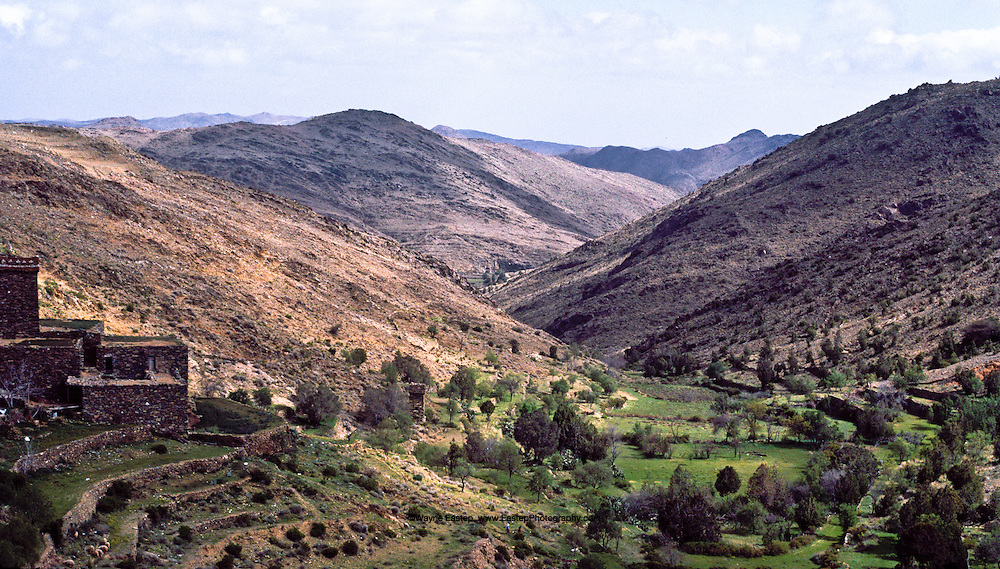 Outside the city of Najran in the Asir mountains. The ancient  trade routes for Francincense ran through here to the Fertile Crescent. Saudi Arabia