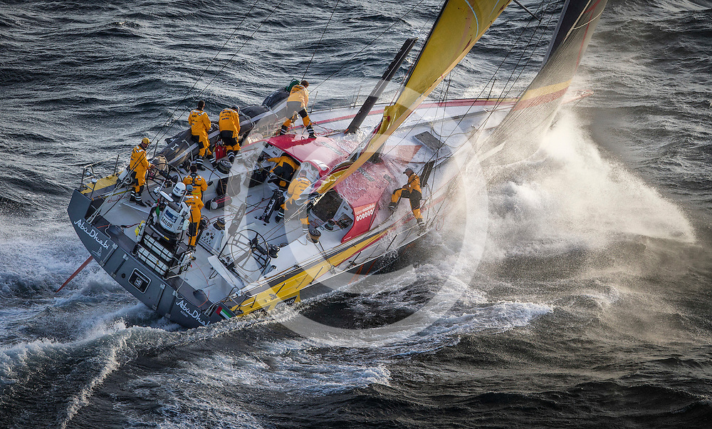 November 19, 2014. Start of Leg 2 from Cape Town to Abu Dhabi: Abu Dhabi Ocean Racing.