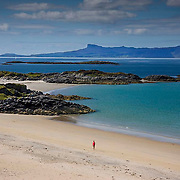 The island of Eigg as seen from Camus Darach, West Highlands
