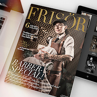 Cover photo for Frisör. Joanna Mroczek at Stüffes Barber, Falun. Photos by Daniel Roos, Stockholm, Sweden