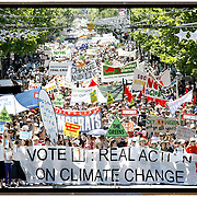 40,000 people march down Swanston Street Melbourne in demonstration for climate change.