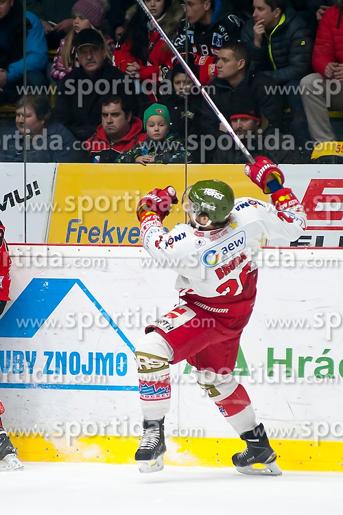 28.12.2015, Ice Rink, Znojmo, CZE, EBEL, HC Orli Znojmo vs HCB Suedtirol, 36. Runde, im Bild Joel Broda (HCB Sudtirol) // during the Erste Bank Icehockey League 36nd round match between HC Orli Znojmo and HCB Suedtirol at the Ice Rink in Znojmo, Czech Republic on 2015/12/28. EXPA Pictures © 2015, PhotoCredit: EXPA/ Rostislav Pfeffer