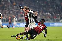Torino - 25.01.2017 - Coppa Italia Tim   -  Juventus-Milan   - nella foto:  Cristian Zapata ferma Mandzukic