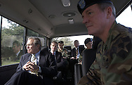 .Secretary of Defense Donald H. Rumsfeld tours Camp Casey, the headquarters of the 2nd U.S. Infantry Division, at Dongducheon, South Korea , Nov. 18, 2003.