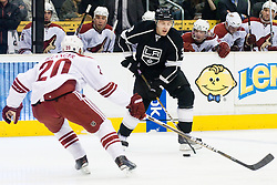 Jack Johnson (Los Angeles Kings, #3) during ice-hockey match between Los Angeles Kings and Phoenix Coyotes in NHL league, March 3, 2011 at Staples Center, Los Angeles, USA. (Photo By Matic Klansek Velej / Sportida.com)