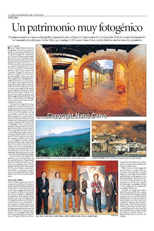 Interior - Diario de Ibiza <br /> 2nd Prize X Anniversary Ibiza World Heritage