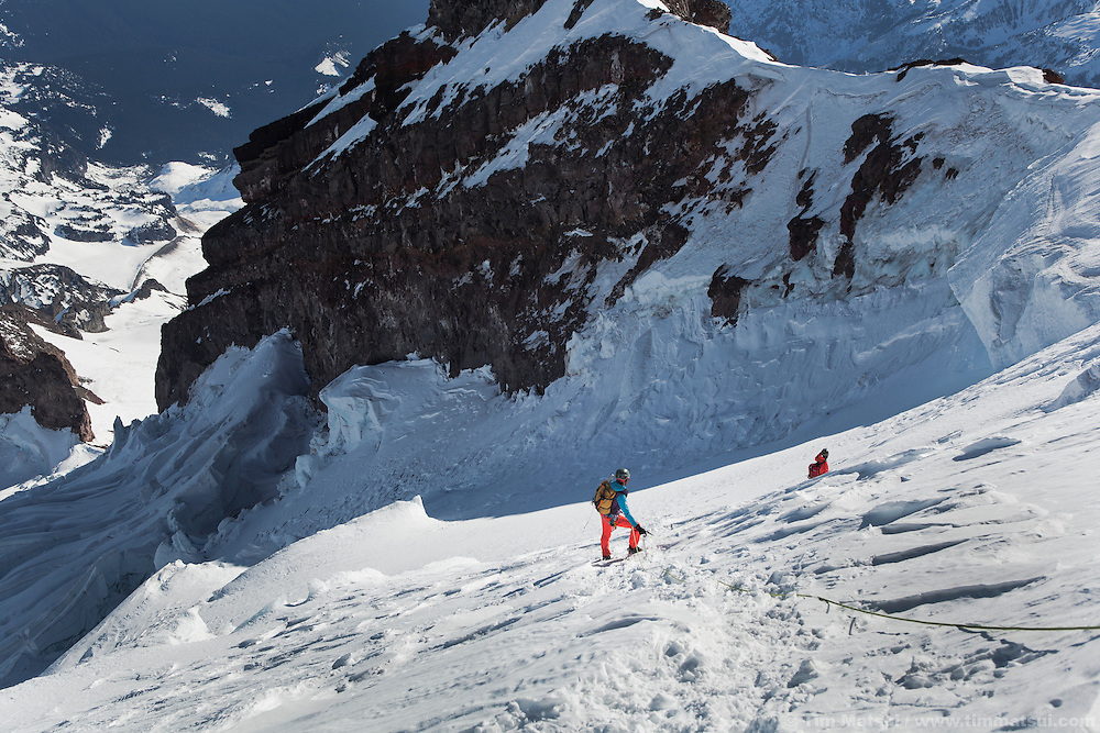One day winter ascent of Mt. Rainier via the Gibraltar Ledges route with a descent of the Ingraham Direct.
