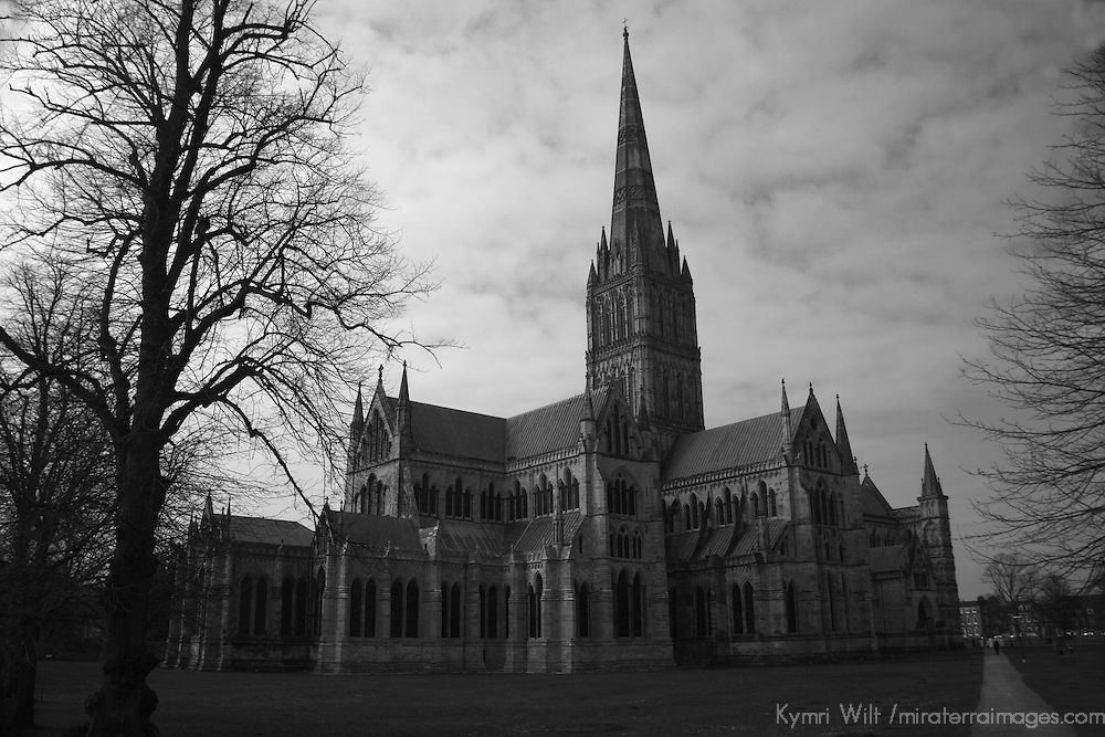 Europe, Great Britain, England, Salisbury. The Salisbury Cathedral.