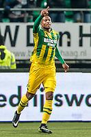 DEN HAAG - ADO Den Haag - PEC Zwolle , Voetbal , Eredivisie , Seizoen 2016/2017 , Kyocera Stadion , 21-01-2017 , ADO Den Haag speler Gervane Kastaneer scoort de 1-0