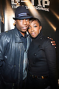 l to r: Talib Kweli and Estelle at The Q-Tip Album release party sponsored by Target held at The Bowery Hotel in NYC on October 28, 2008