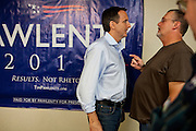 Republican presidential candidate, former Minnesota Gov. Tim Pawlenty speaks to a local at a campaign stop in Mason City, Iowa, August 5, 2011.