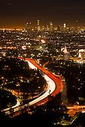 Twilight view of Los Angeles