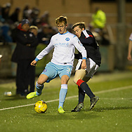 Forfar's Michael Kennedy and Dundee&rsquo;s Craig Wighton  - Forfar Athletic v Dundee, Martyn Fotheringham testimonial at Station Park, Forfar.Photo: David Young<br /> <br />  - &copy; David Young - www.davidyoungphoto.co.uk - email: davidyoungphoto@gmail.com