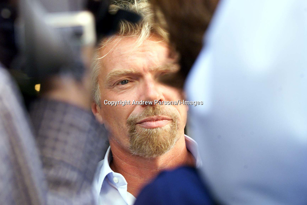 Sir Richard Branson after his meeting with the Lottery Commission. .Photo by Andrew Parsons/i-Images.All Rights Reserved ©Andrew Parsons/i-images.See Instructions.
