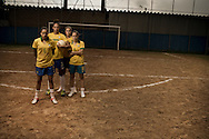 Sao Paulo, Brazil, April 09 of 2013:  Brazilian football team players Erika, Luana, Andressa and Aline during a photo shooting for IstoÉ magazine.  (photo: Caio Guatelli)