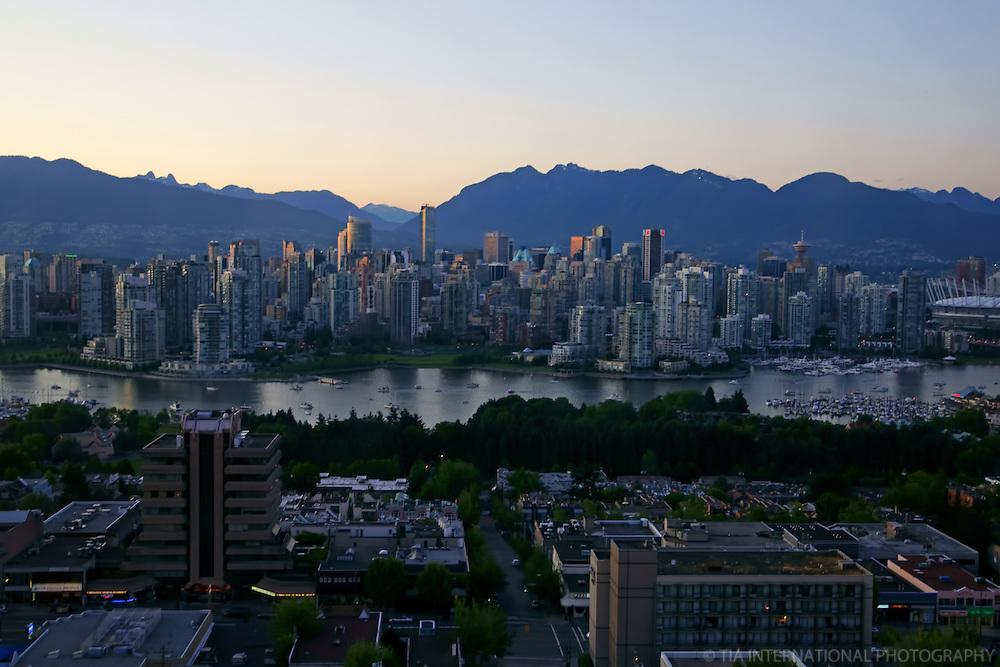 Vancouver Skyline, False Creek & Coast Mountains