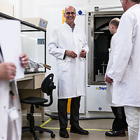 Creteil France le 23 avril 2014. Essilor est leader mondial sur la technologie de verre ophtalmique. lIllustration du centre Innovation et Technologie du  groupe. Portrait de Paul du Saillant, directeur general adjoint d Essilor.