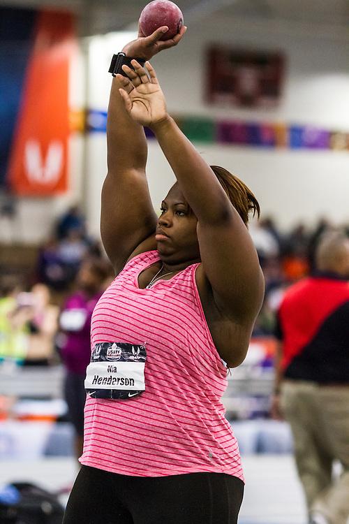 USATF Indoor Track & Field Championships: womens shot put, Nia Henderson