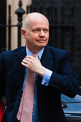 London, March 3rd 2015. Members of the cabinet arrive at 10 Downing Street for their weekly meeting. PICTURED: Leader of the House William Hague.
